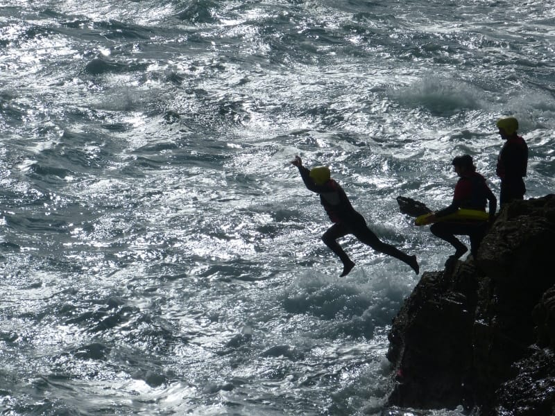 Coasteering, photo by Dune Dreams Photography, courtesy of Visit Cornwall.