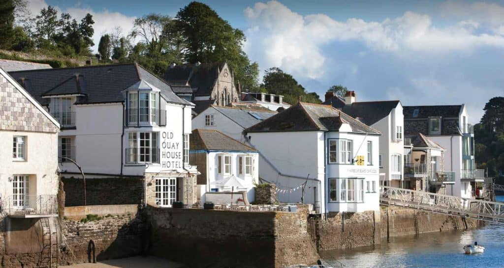 the old quay house hotel in fowey cornwall the old quay house